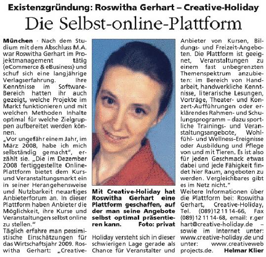 Werbe-Spiegel 18, Jg. 8 - Artikel Helmar Klier